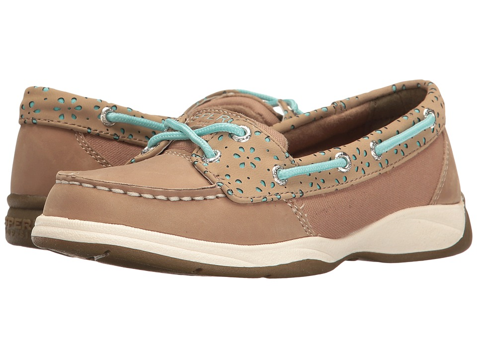 Sperry Kids - Laguna (Little Kid/Big Kid) (Greige/Turquoise) Girl's Shoes