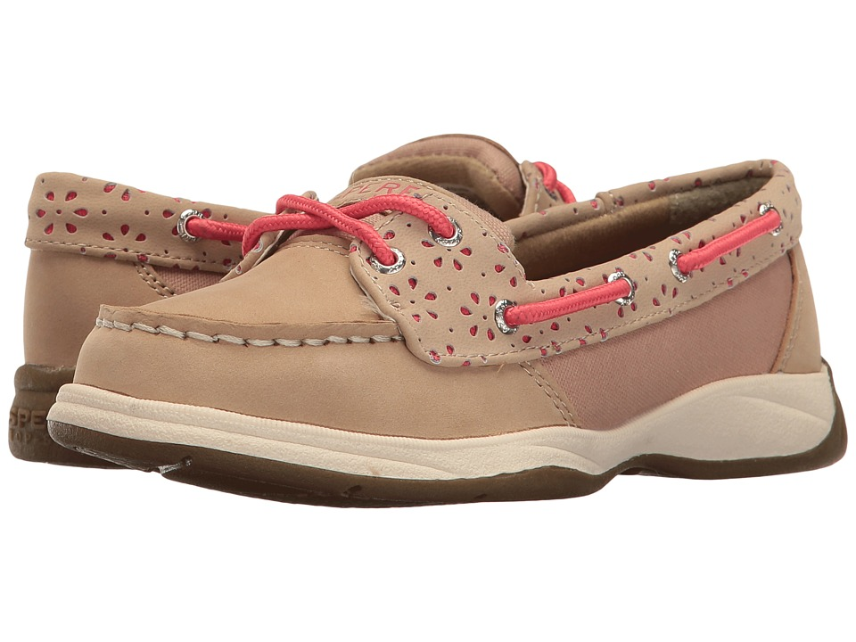 Sperry Kids - Laguna (Little Kid/Big Kid) (Oat/Coral) Girl's Shoes