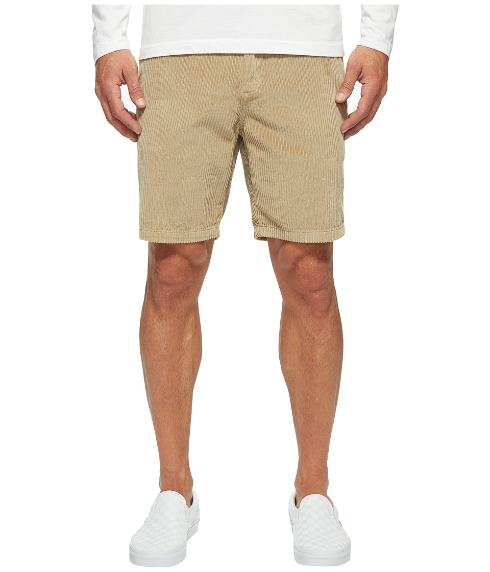 Billabong - Bad Dog Cord Shorts (Light Khaki Heather) Men's Shorts