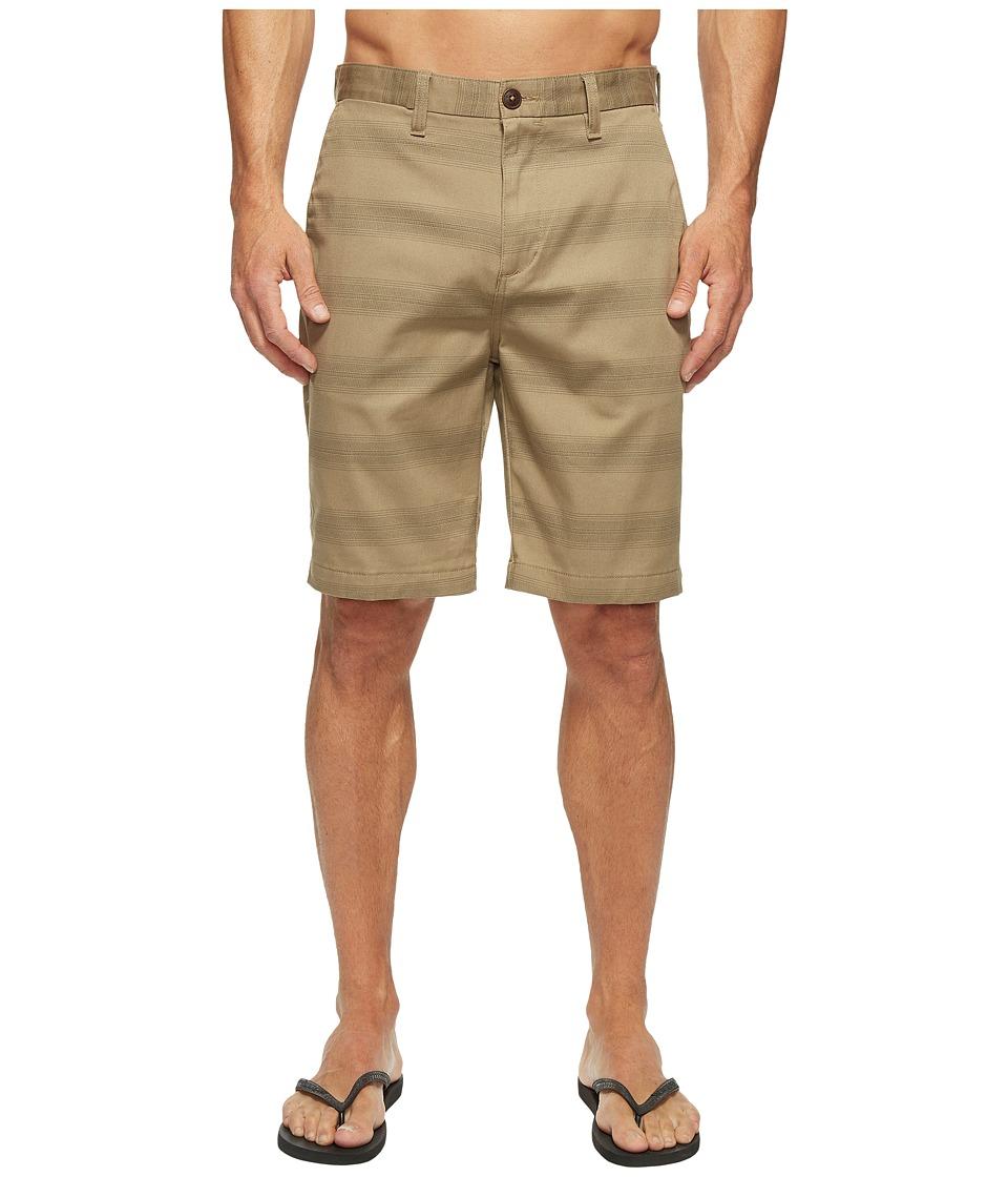 Billabong Carter Stretch Stripe Walkshorts (Dark Khaki) Men