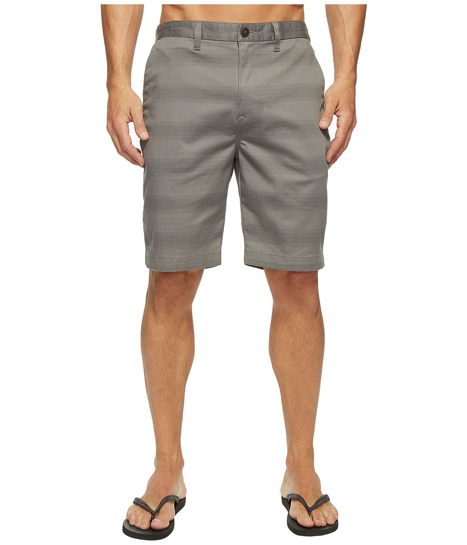 Billabong Carter Stretch Stripe Walkshorts (Pewter) Men