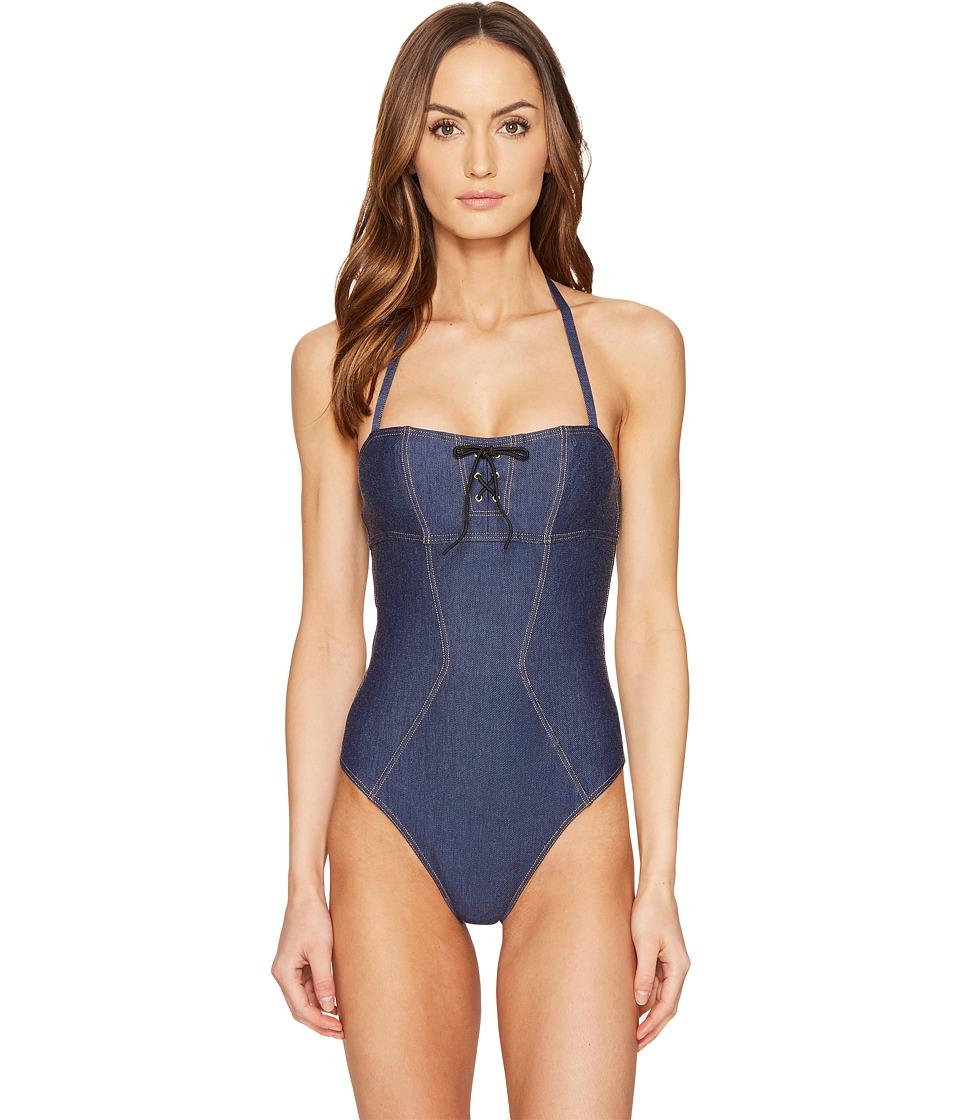093138f799 L Agent by Agent Provocateur - Sophia Swimsuit (Denim) Women s Swimsuits  One Piece