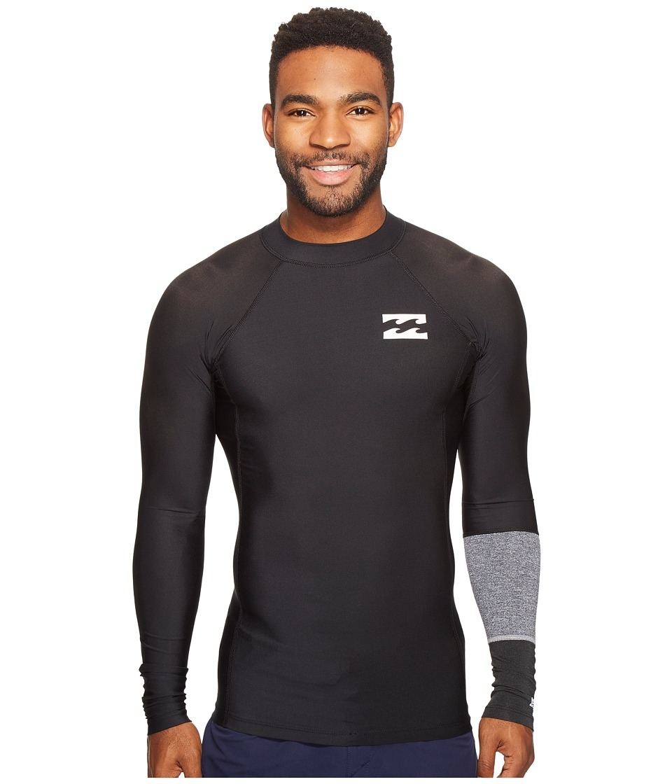 Billabong - Tri Bong Performance Fit Long Sleeve (Black) Men's Swimwear