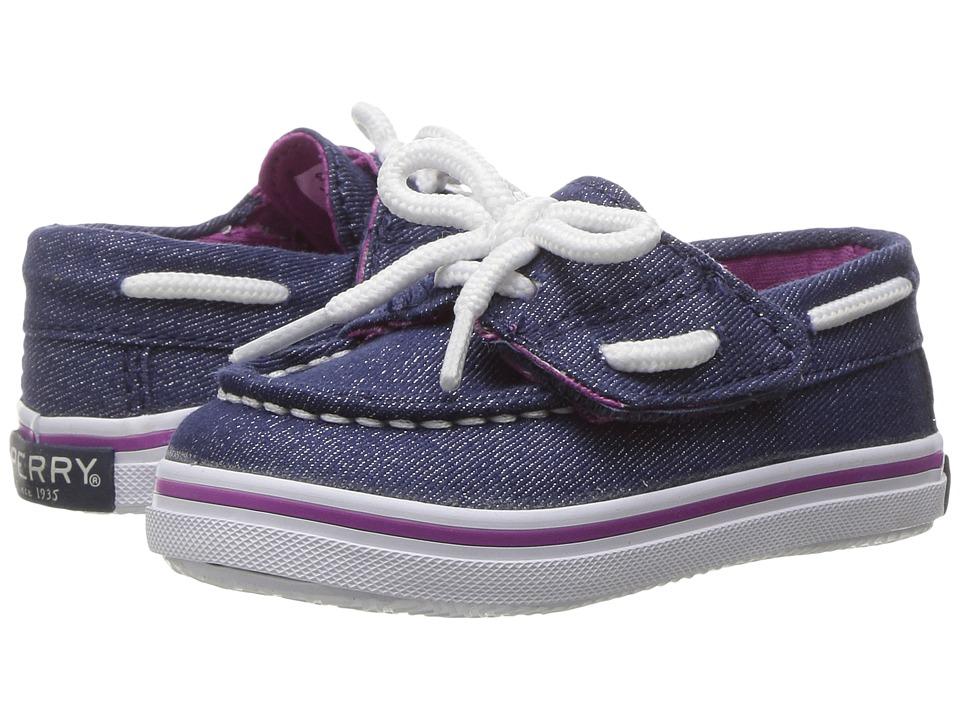 Sperry Kids - Seabright Crib Jr. (Infant/Toddler) (Denim Sparkle) Girl's Shoes