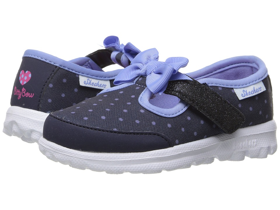 SKECHERS KIDS - Go Walk 81134N (Toddler/Little Kid) (Navy/Light Blue) Girl's Shoes