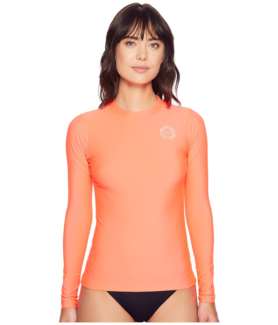 Billabong - Core Loose Fit Long Sleeve (Horizon Red) Women's Swimwear