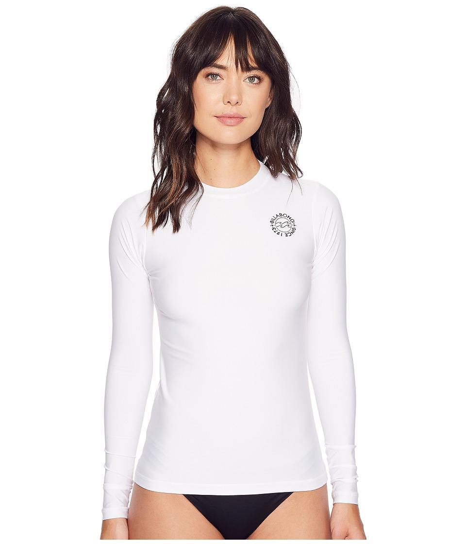Billabong - Core Loose Fit Long Sleeve (White) Women's Swimwear