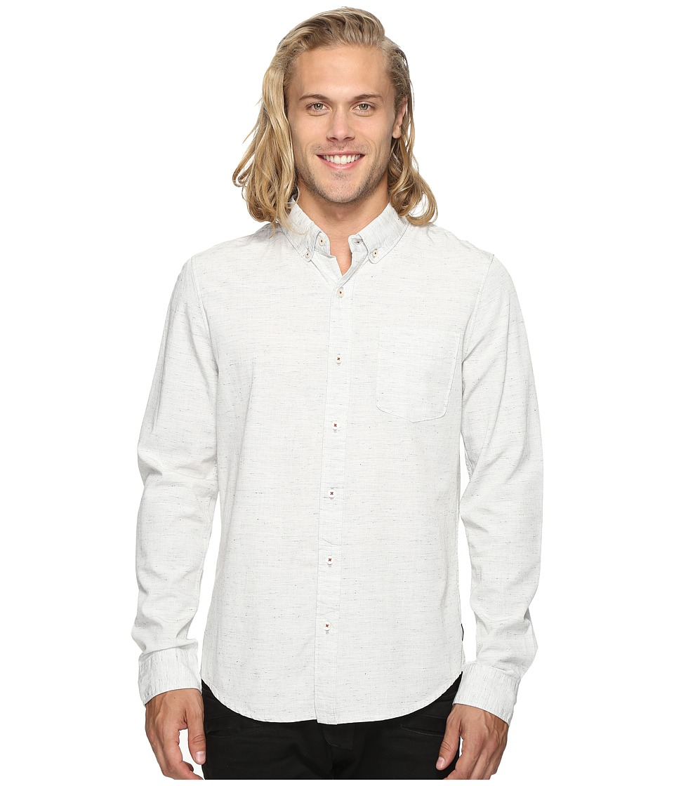 Roark - Alder Long Sleeve Shirt (White) Men's Clothing