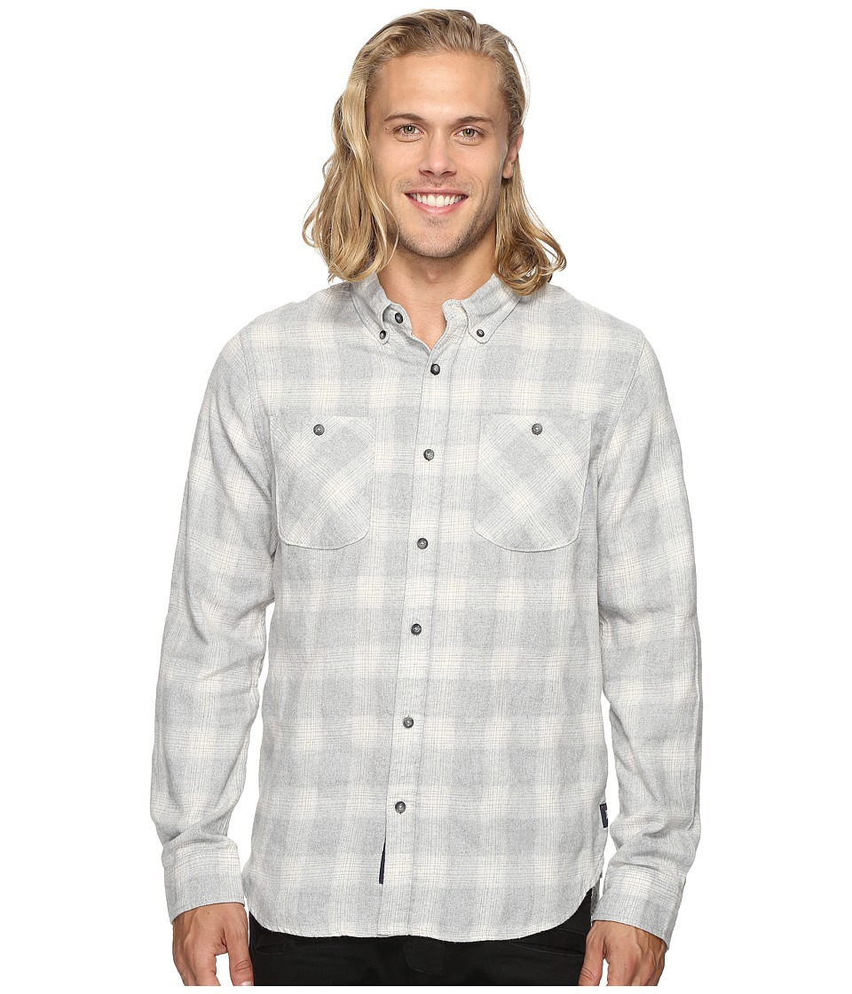 Roark - Highway 4 Long Sleeve Flannel (Grey) Men's Clothing