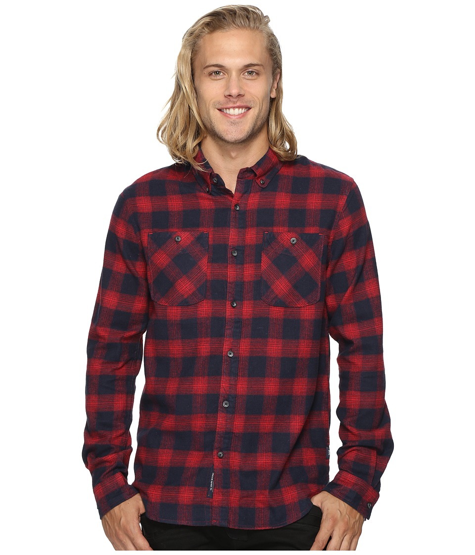 Roark - Highway 4 Long Sleeve Flannel (Navy) Men's Clothing