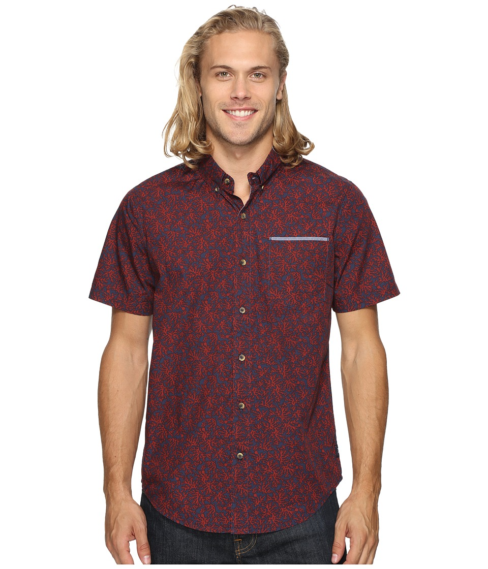Roark - Bull Kelp Short Sleeve Woven (Navy) Men's Clothing
