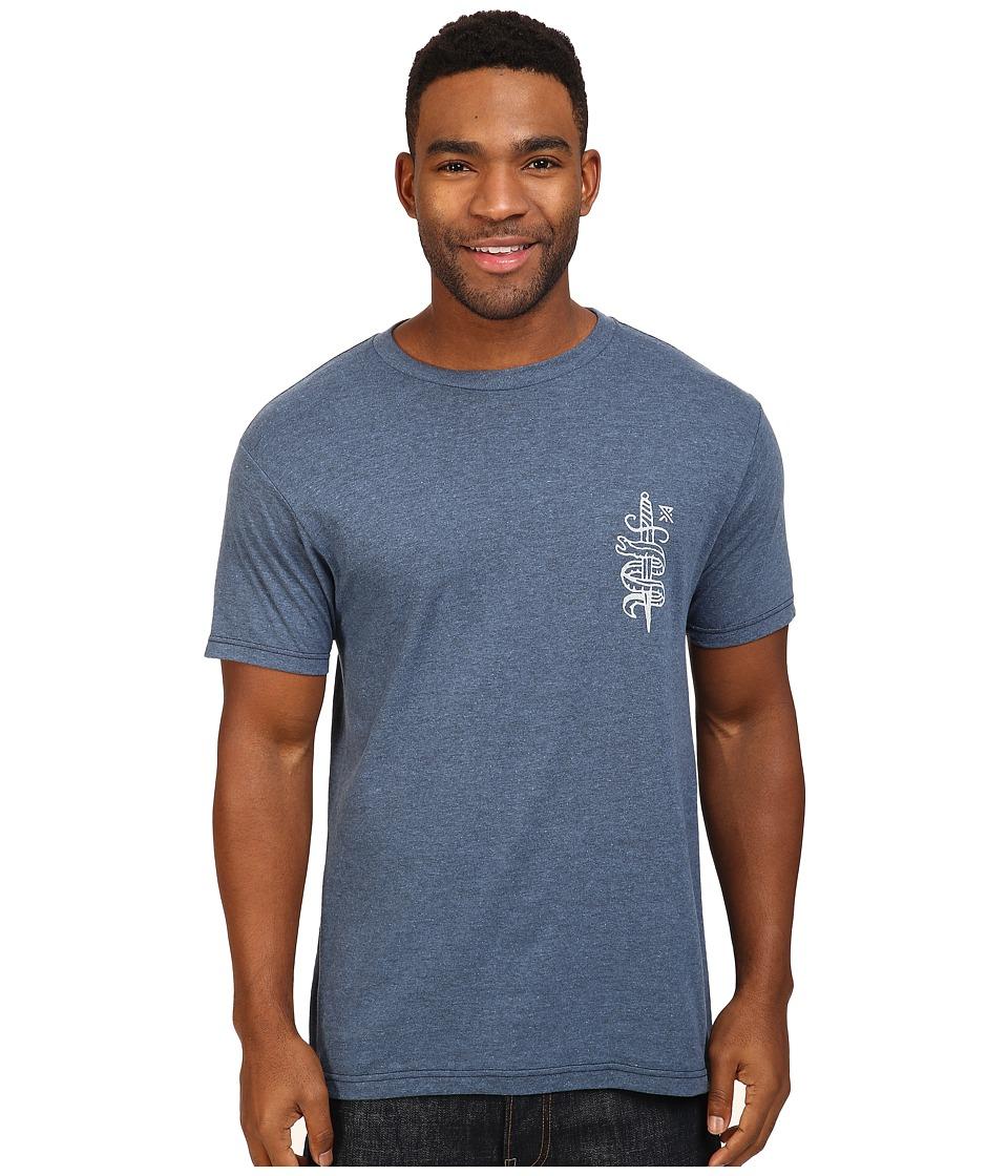 Roark - The Sea Hates A Coward Tee (Indigo) Men's T Shirt