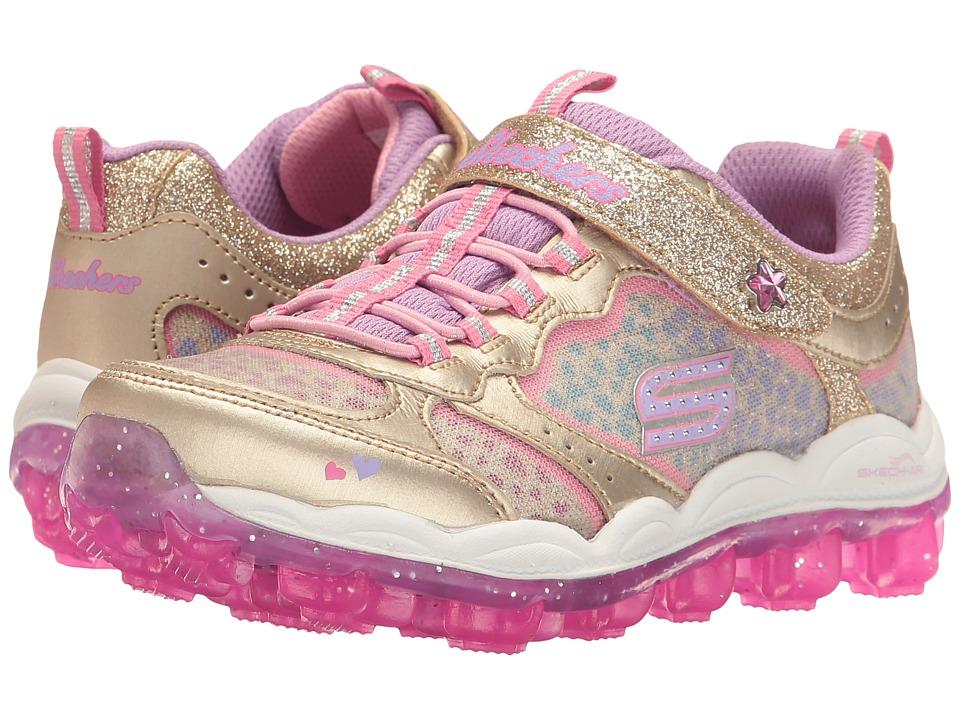 SKECHERS KIDS - Skech Air - Stardust 81295L (Little Kid/Big Kid) (Gold/Multi) Girl's Shoes