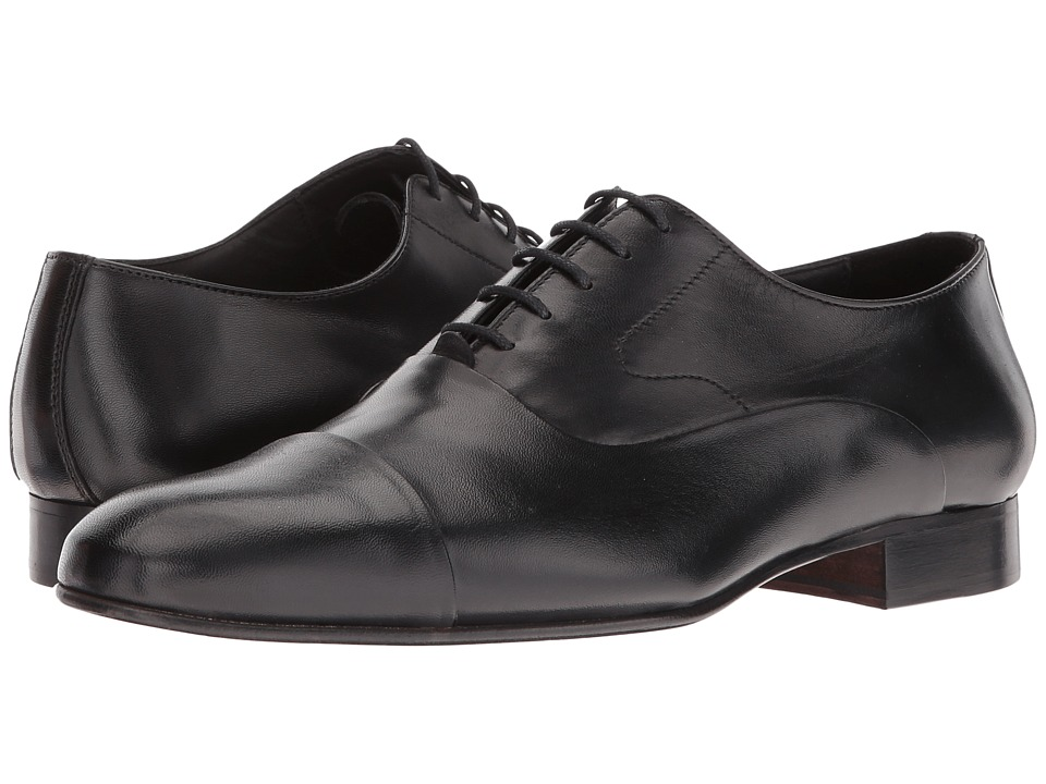 Massimo Matteo - Nappa Bal Cap Toe (Black) Men's Lace Up Cap Toe Shoes