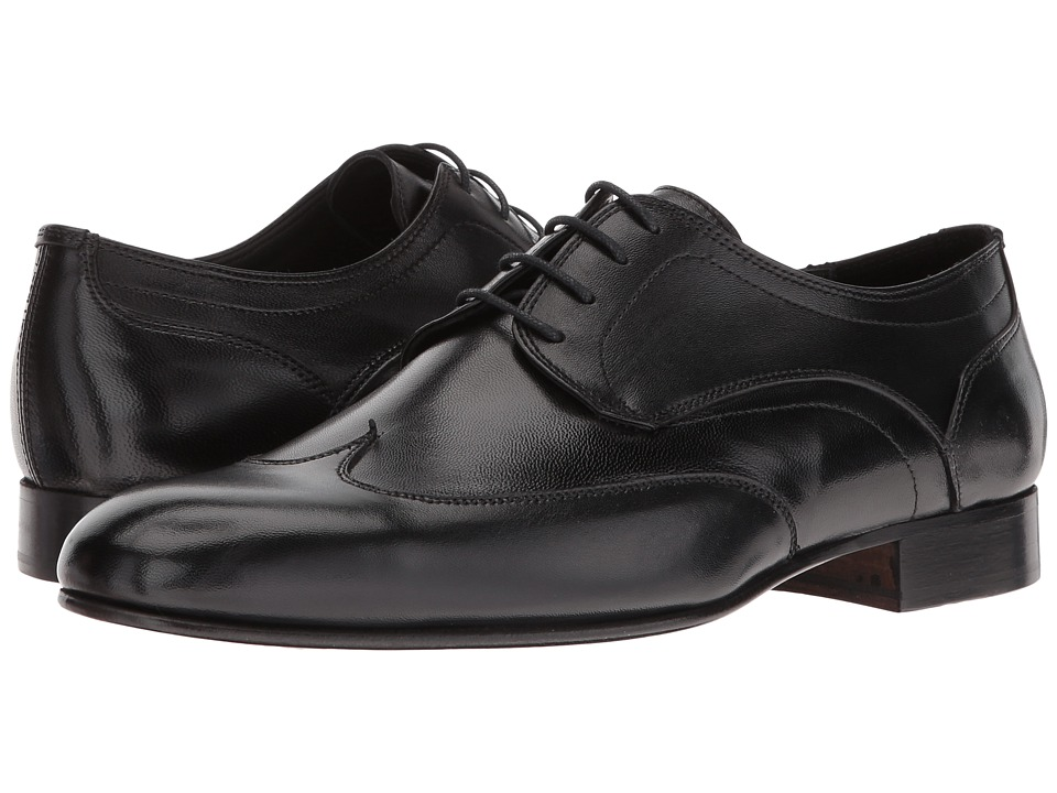 Massimo Matteo - Nappa Wing Tip (Black) Men's Lace Up Wing Tip Shoes
