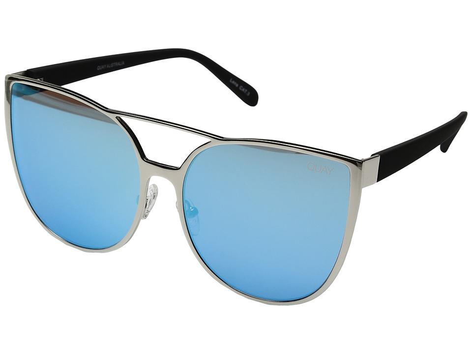 QUAY AUSTRALIA - Sorority Princess (Silver/Blue) Fashion Sunglasses