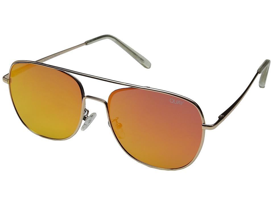 QUAY AUSTRALIA - Running Riot (Gold/Red) Fashion Sunglasses