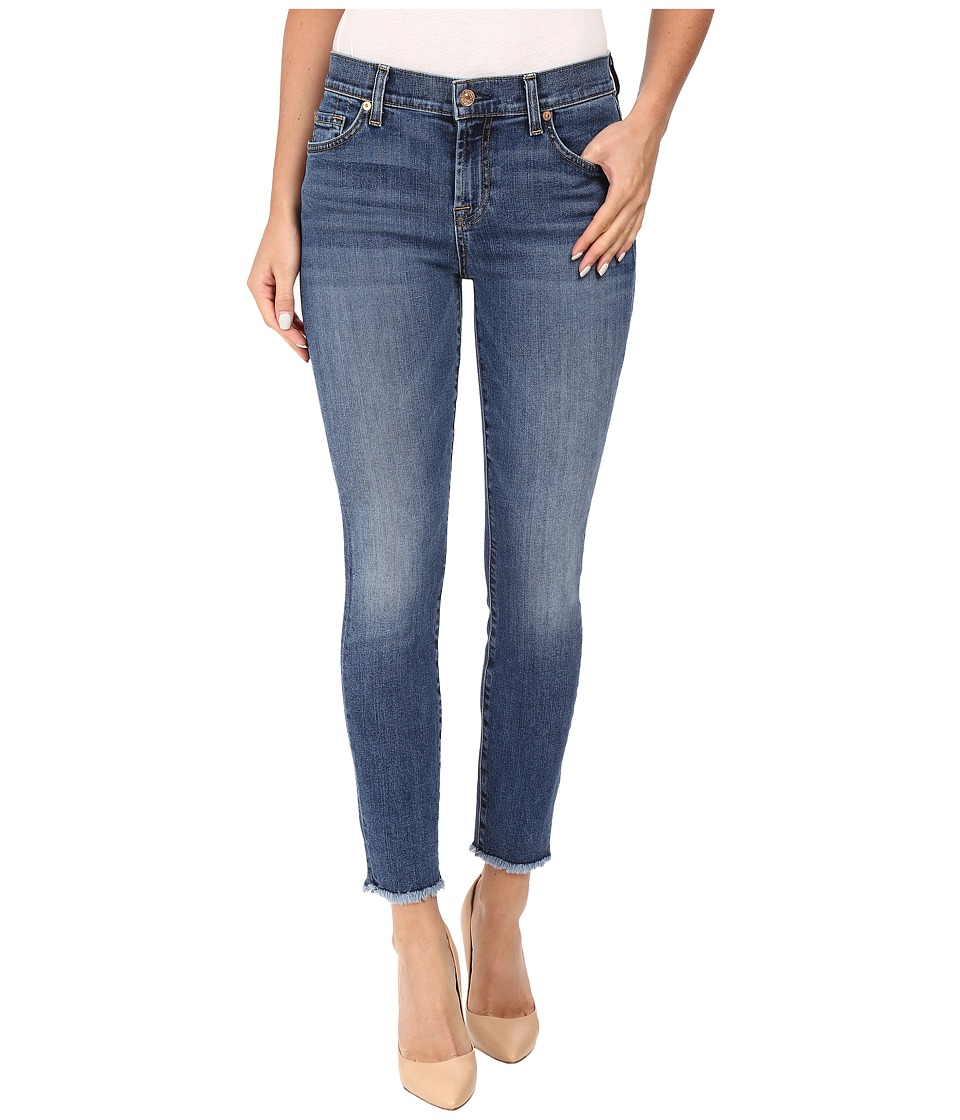 7 For All Mankind - The Ankle Skinny w/ Raw Hem in Hyde Park (Hyde Park) Women's Jeans