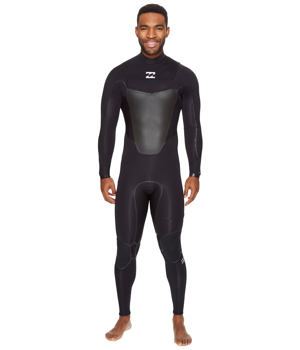 Billabong - 302 Absolute X Chest Zip (Black) Men's Wetsuits One Piece