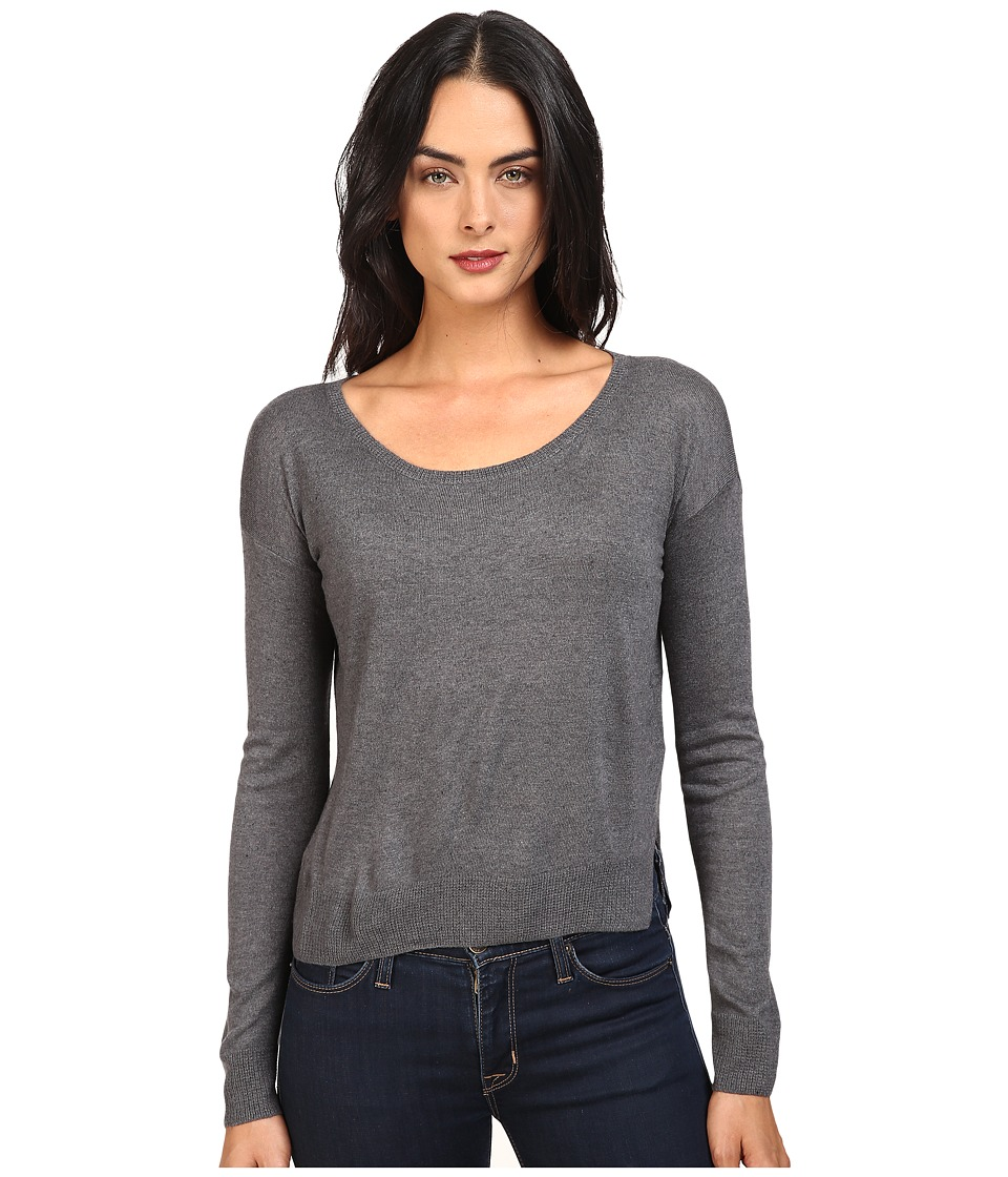 Splendid - Crop Sweater Cashmere Blend (Heather Gravel) Women's Sweater