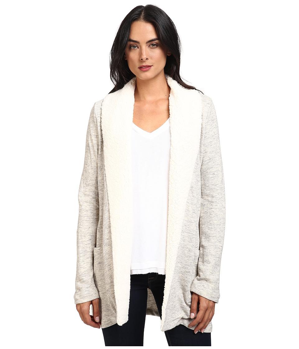 Splendid - Loopine Lounge Sherpa Cardigan (Heather Natural) Women's Sweater
