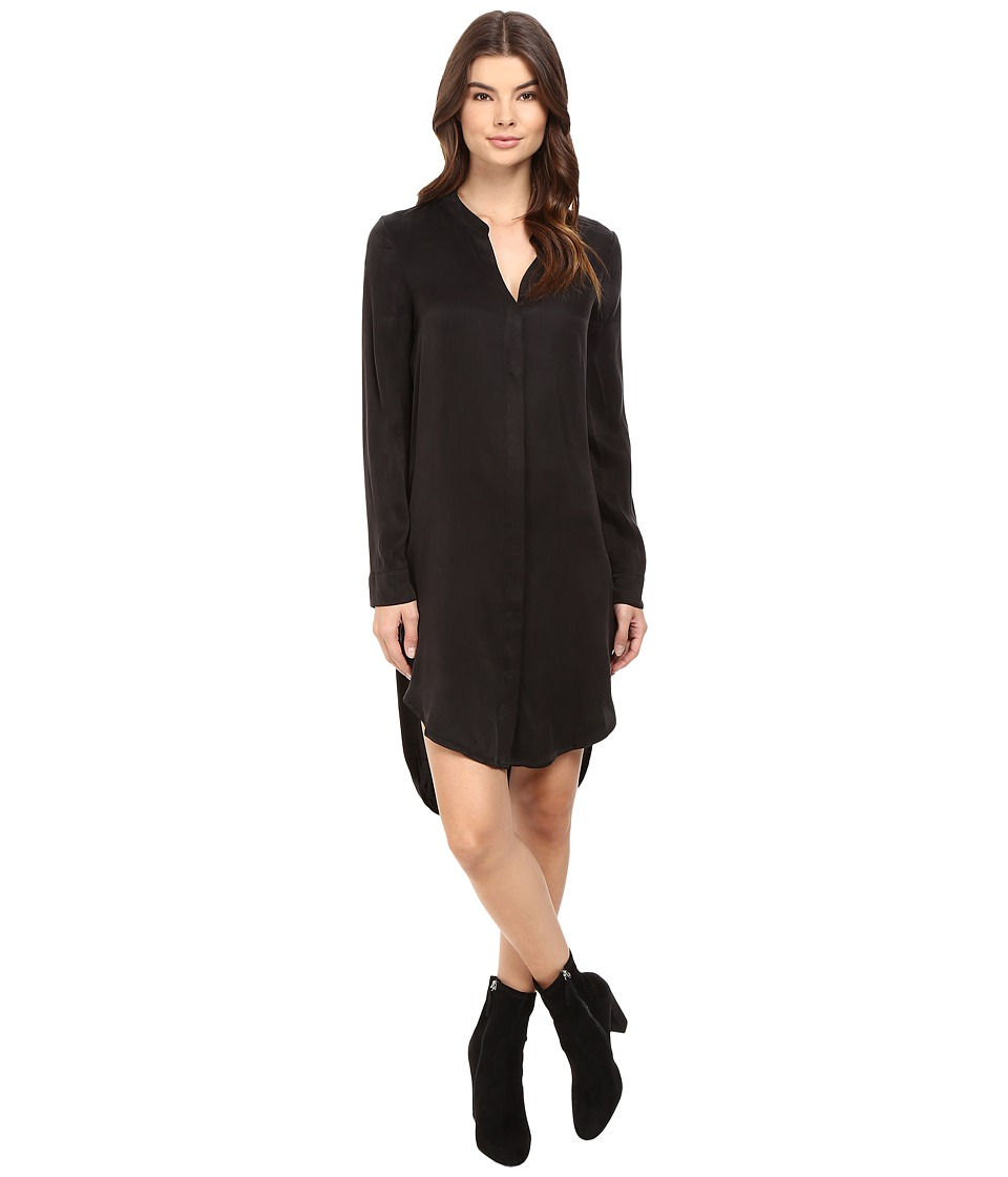 Splendid - Washed Cupro Shirtdress (Black) Women's Dress