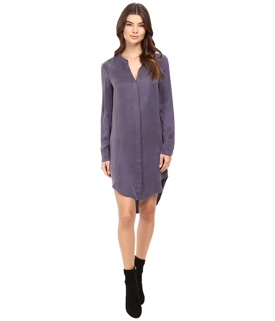 Splendid - Washed Cupro Shirtdress (Dusty Plum) Women's Dress