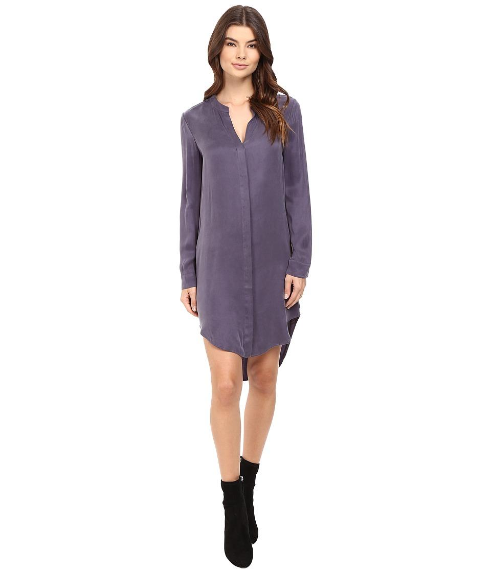 Splendid - Washed Cupro Shirtdress (Dusty Plum) Women's Dress