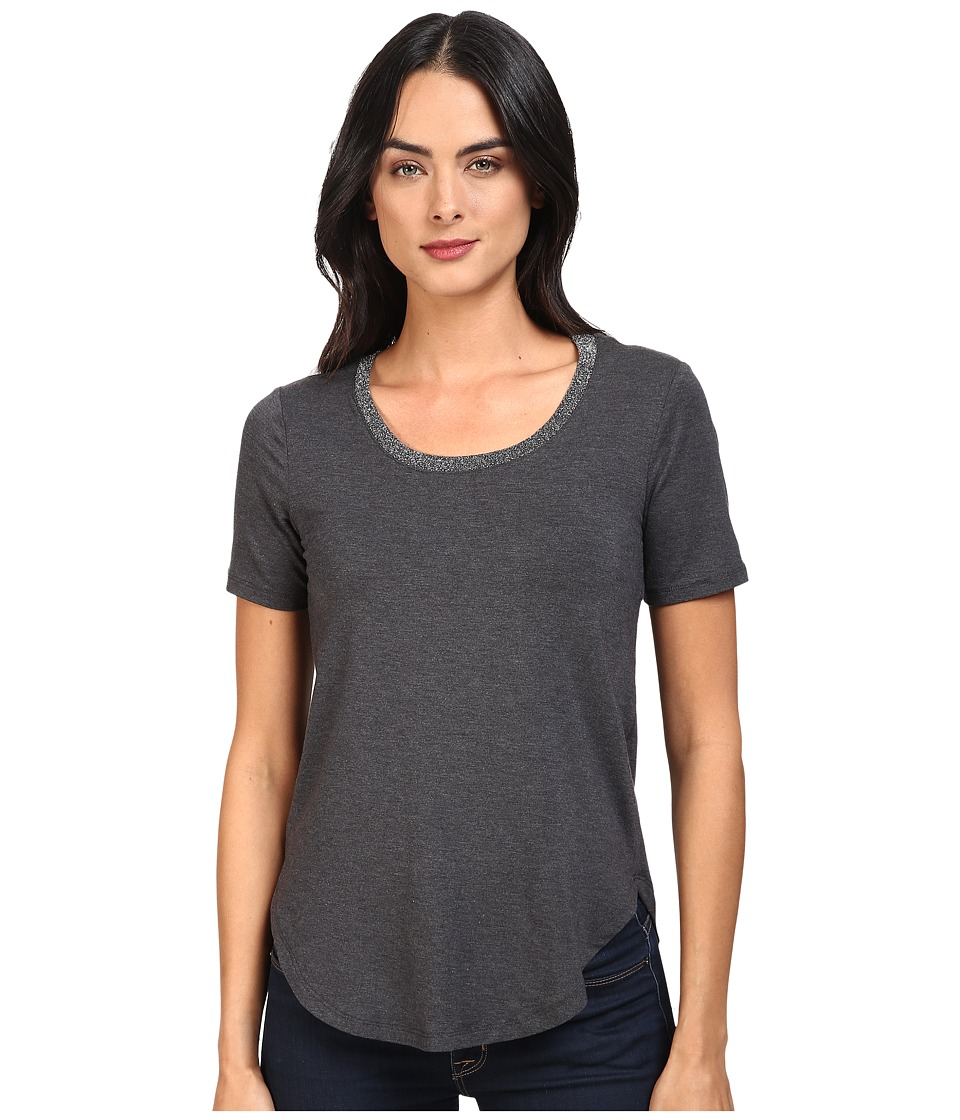 Splendid - Sparkle Tee (Charcoal) Women's T Shirt