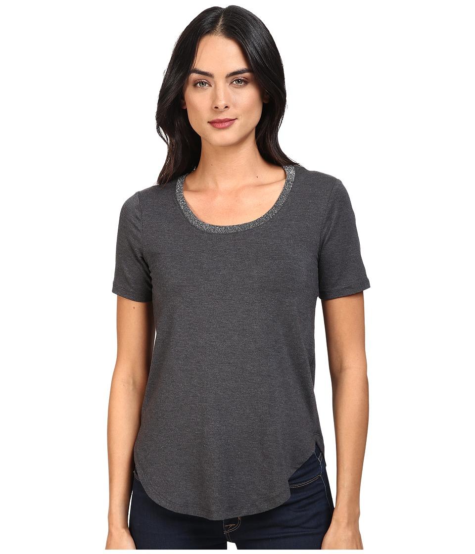 Splendid - Sparkle Tee (Charcoal) Women's T Shirt