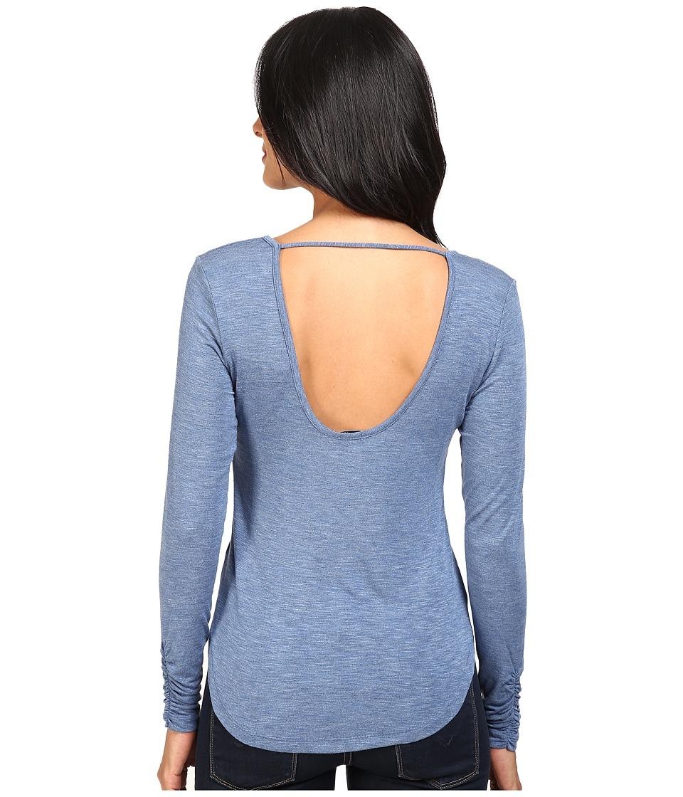 Splendid - Slub Jersey Open Back Top (Heather Riviera Blue) Women's Clothing