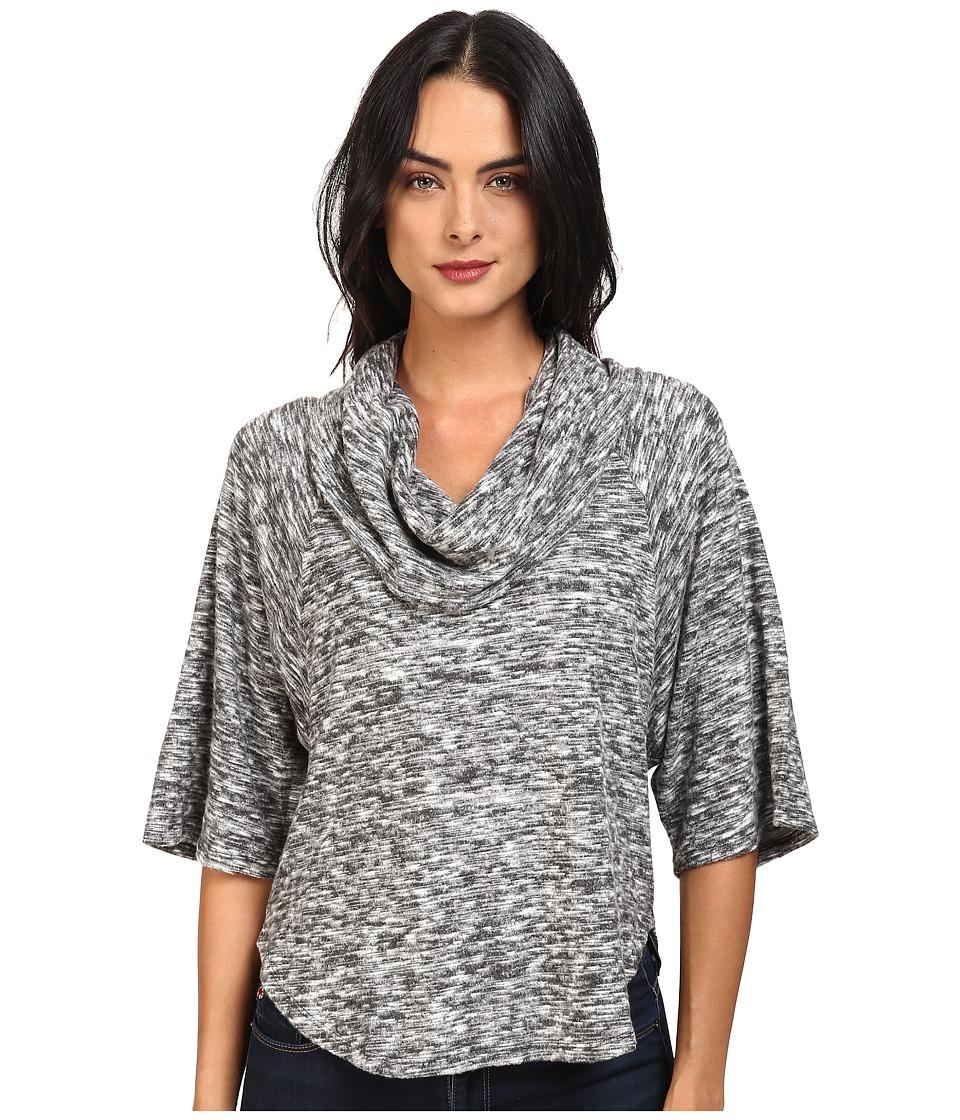 Splendid - Silver Mountain Jersey Cowl Neck Pullover (Black) Women's Clothing