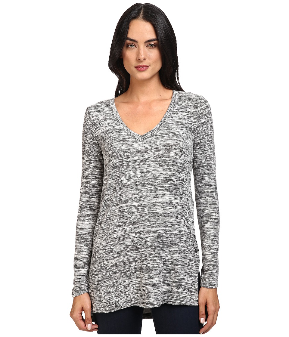 Splendid - Silver Mountain Jersey Tunic (Black) Women's Blouse