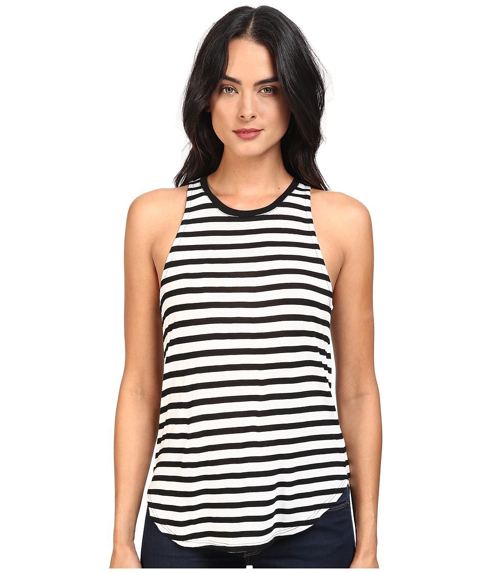 Splendid - Stripe Tees Sleeveless Top (Black/White) Women's Sleeveless
