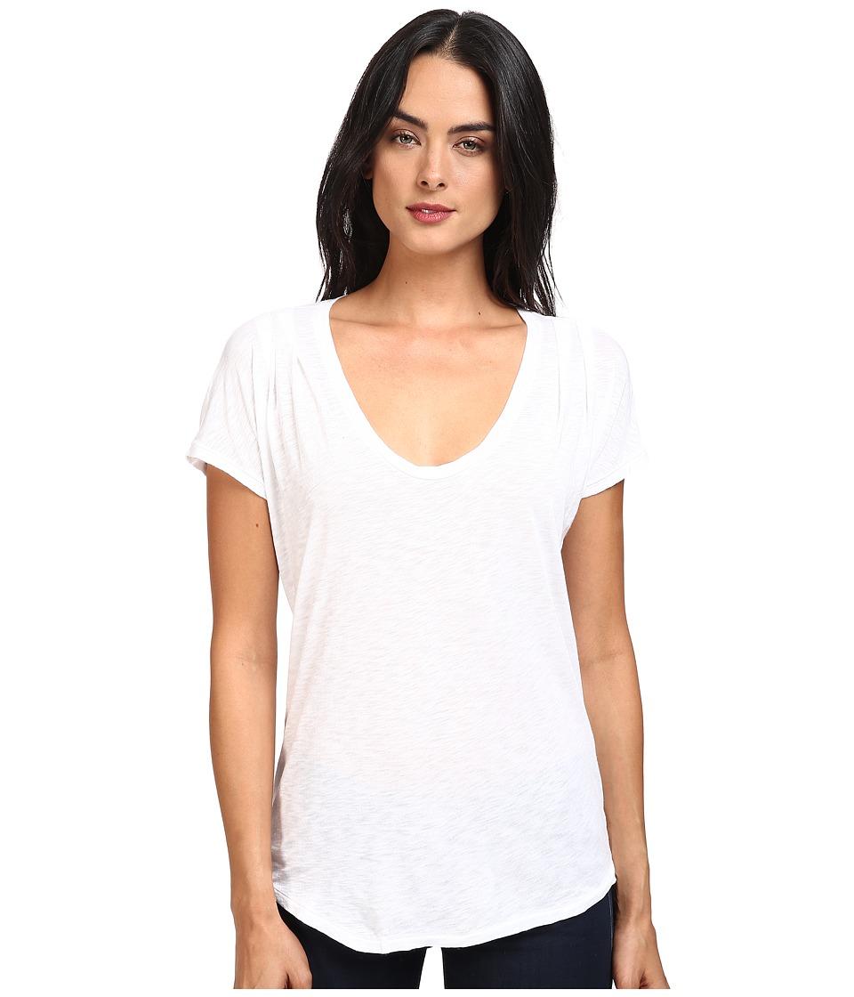 Splendid - Slub Tees Pleat Shoulder Top (White) Women's Clothing