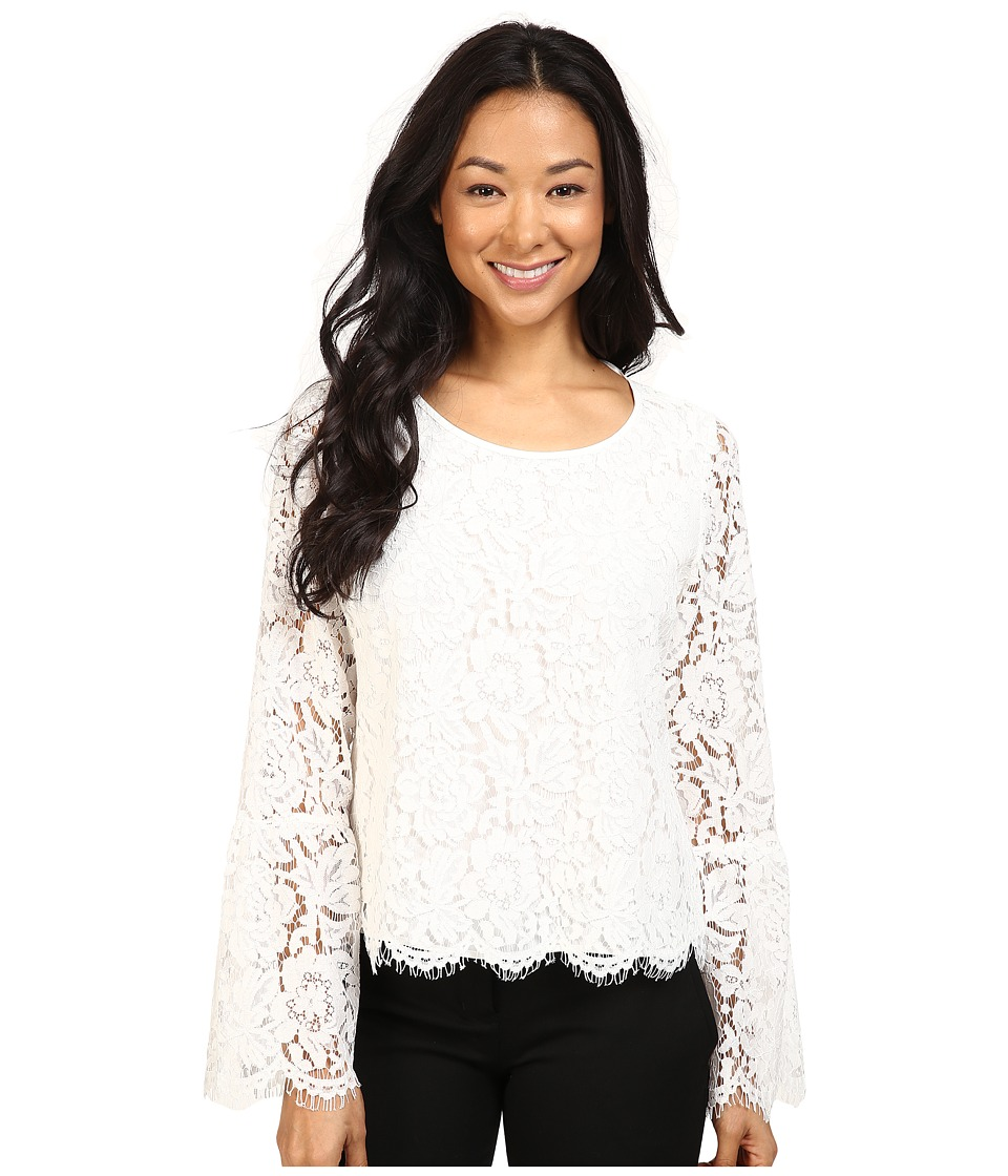 Vince Camuto - Bell Sleeve Scallop Edge Lace Blouse (New Ivory) Women's Blouse
