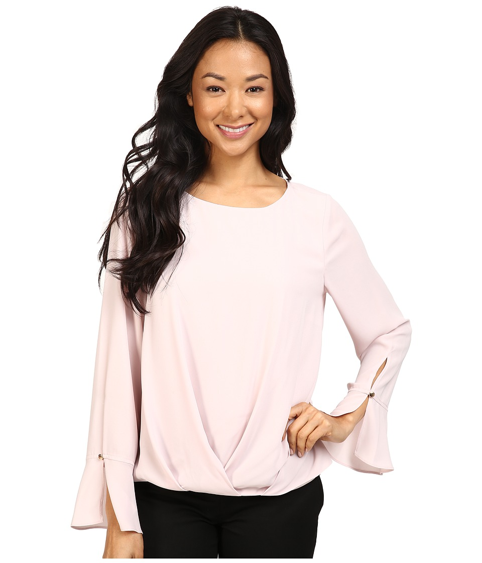 Vince Camuto - Flutter-Cuff Fold-Over Blouse (Hush Pink) Women's Blouse