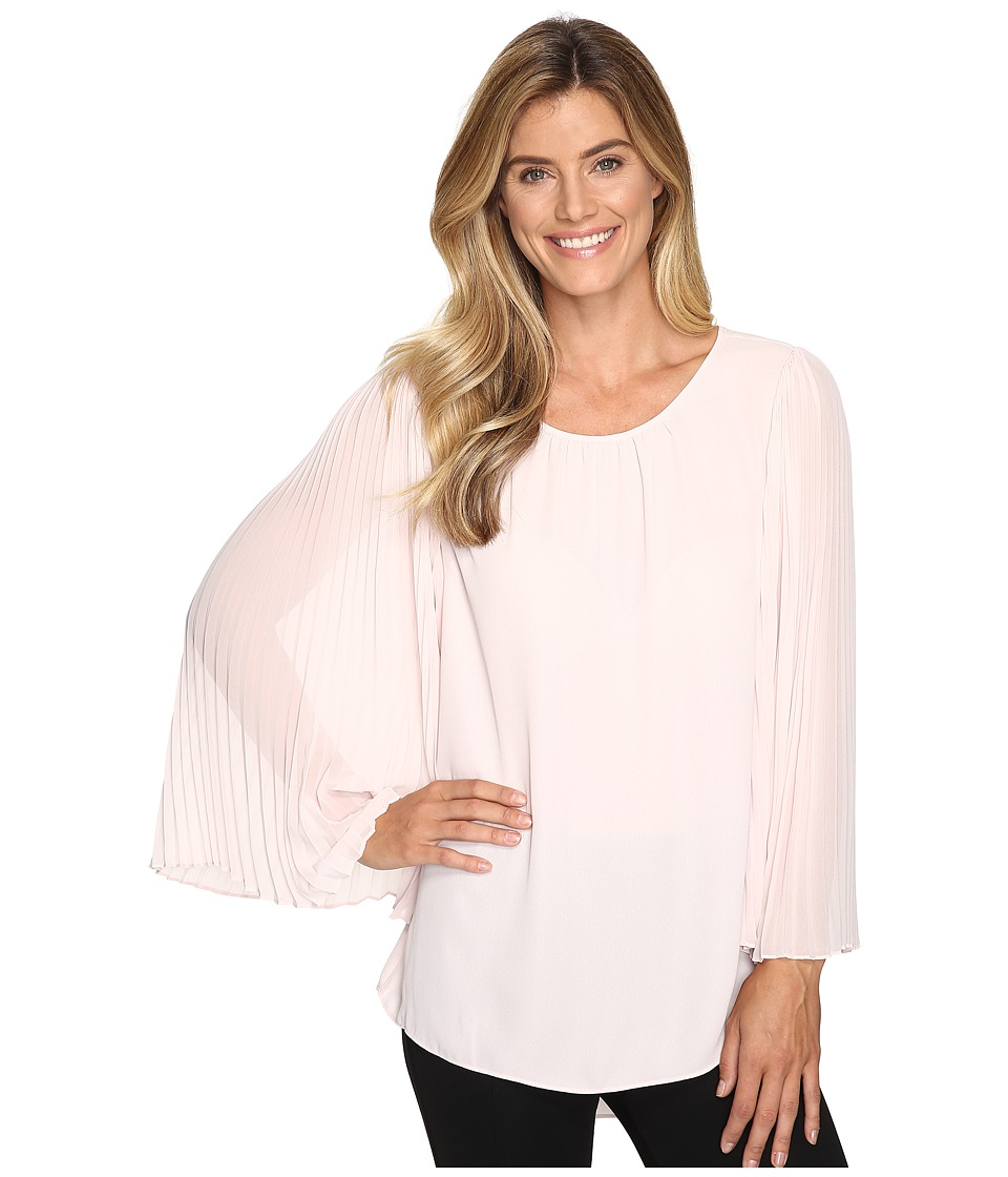 Vince Camuto - Chiffon Pleated Sleeve Blouse (Hush Pink) Women's Blouse