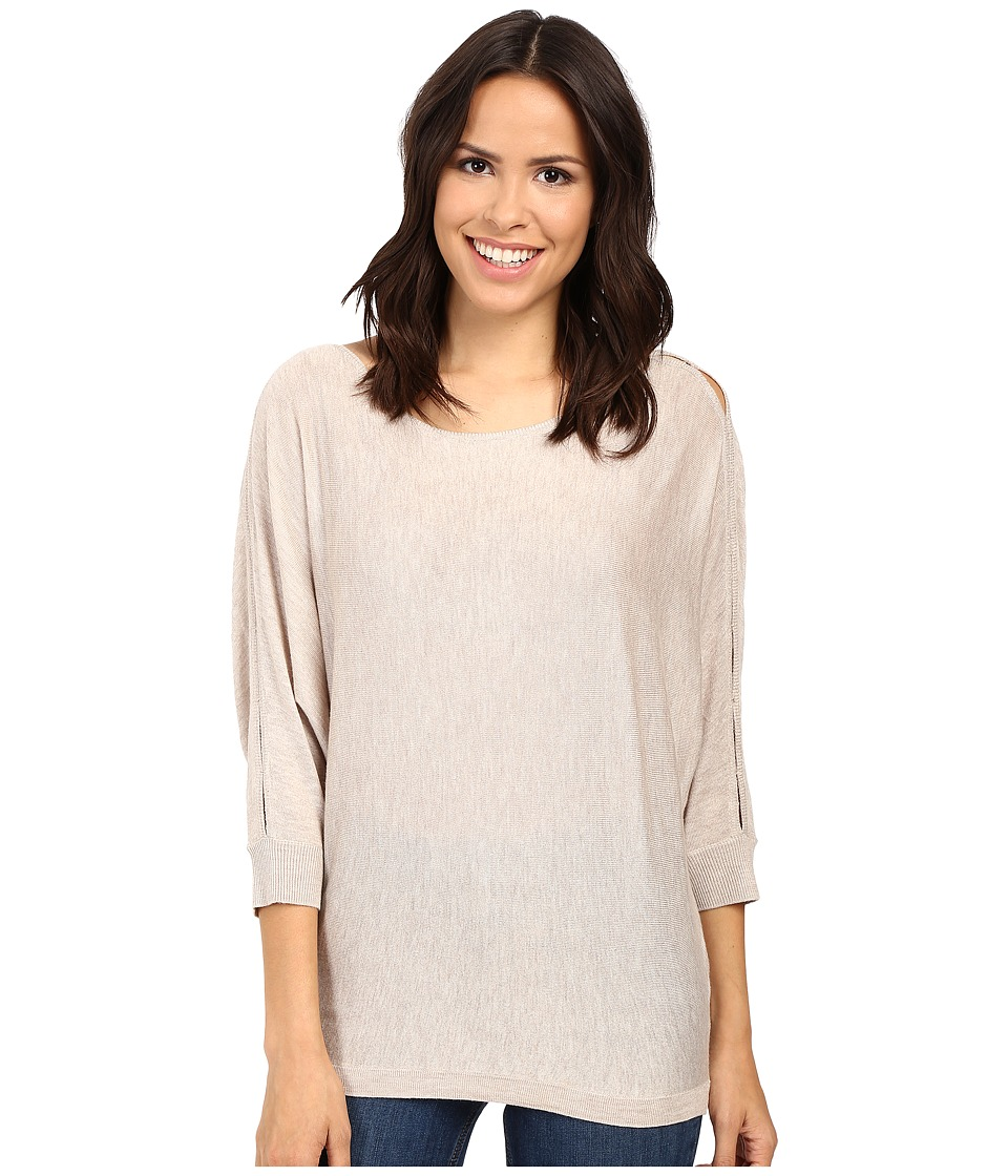Splendid - Bailey Sweater with Shoulder Slits (Heathered Wheat) Women's Sweater