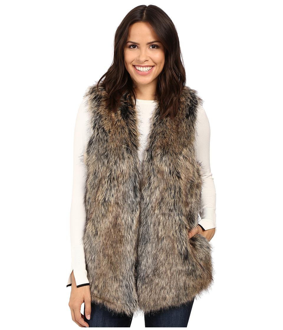 Splendid - Westhaven Faux Fur Vest (Brown) Women's Vest
