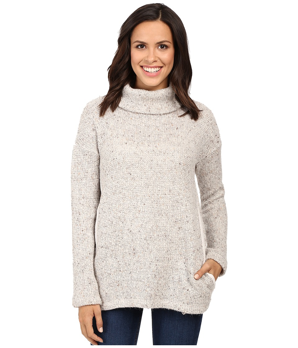 Splendid - Double Face Loose Knit Roll Neck Pullover (Linen) Women's Clothing