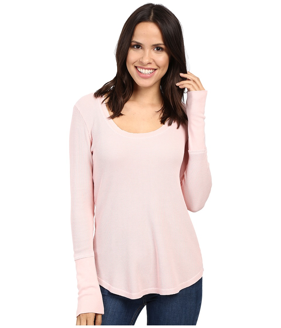Splendid - Nordic Thermal Long Sleeve U-Neck Top (Vintage Porcelain Rose) Women's Clothing