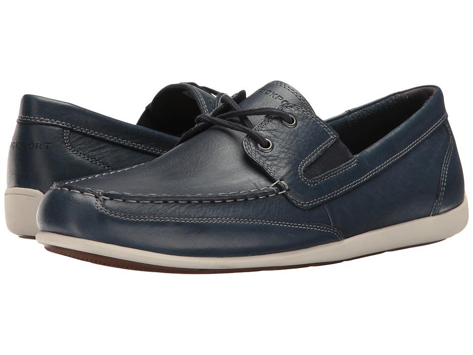 Rockport Bennett Lane 4 Boat Shoe (New Dress Blues Leather) Men