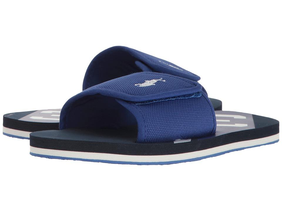 Polo Ralph Lauren Kids - Perri Slide (Little Kid) (Royal Nylon/White PP/Navy) Kid's Shoes