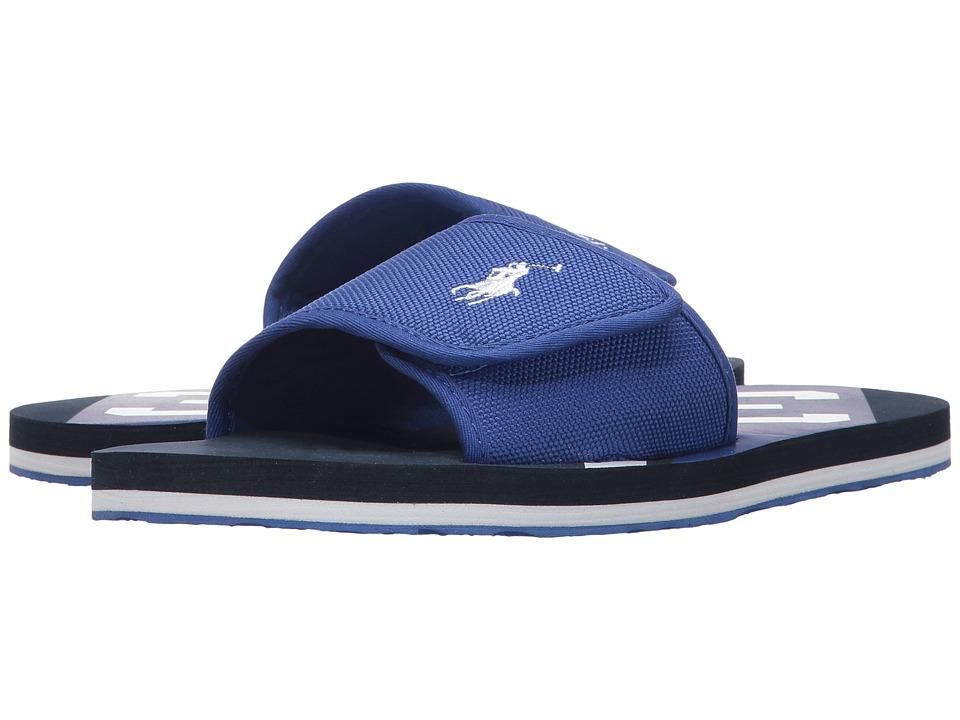 Polo Ralph Lauren Kids - Perri Slide (Big Kid) (Royal Nylon/White PP/Navy) Kid's Shoes
