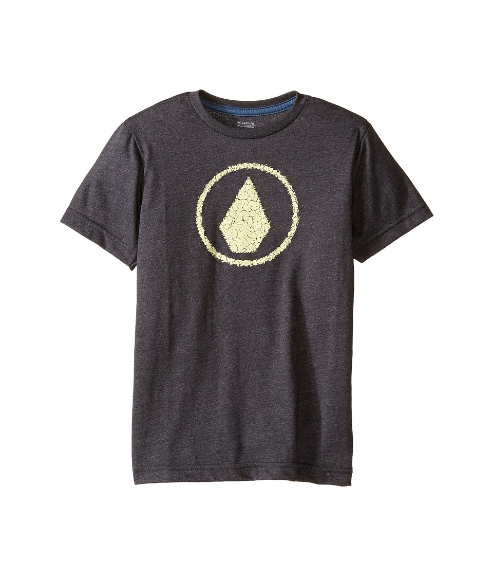 Volcom Kids - Jag Short Sleeve Tee (Toddler/Little Kids) (Heather Black) Boy's T Shirt