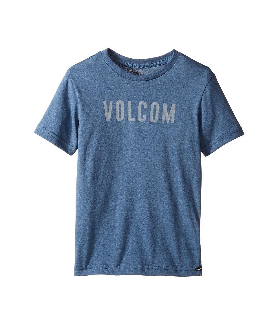Volcom Kids - Trucky Short Sleeve Tee (Toddler/Little Kids) (Blue Plum) Boy's T Shirt