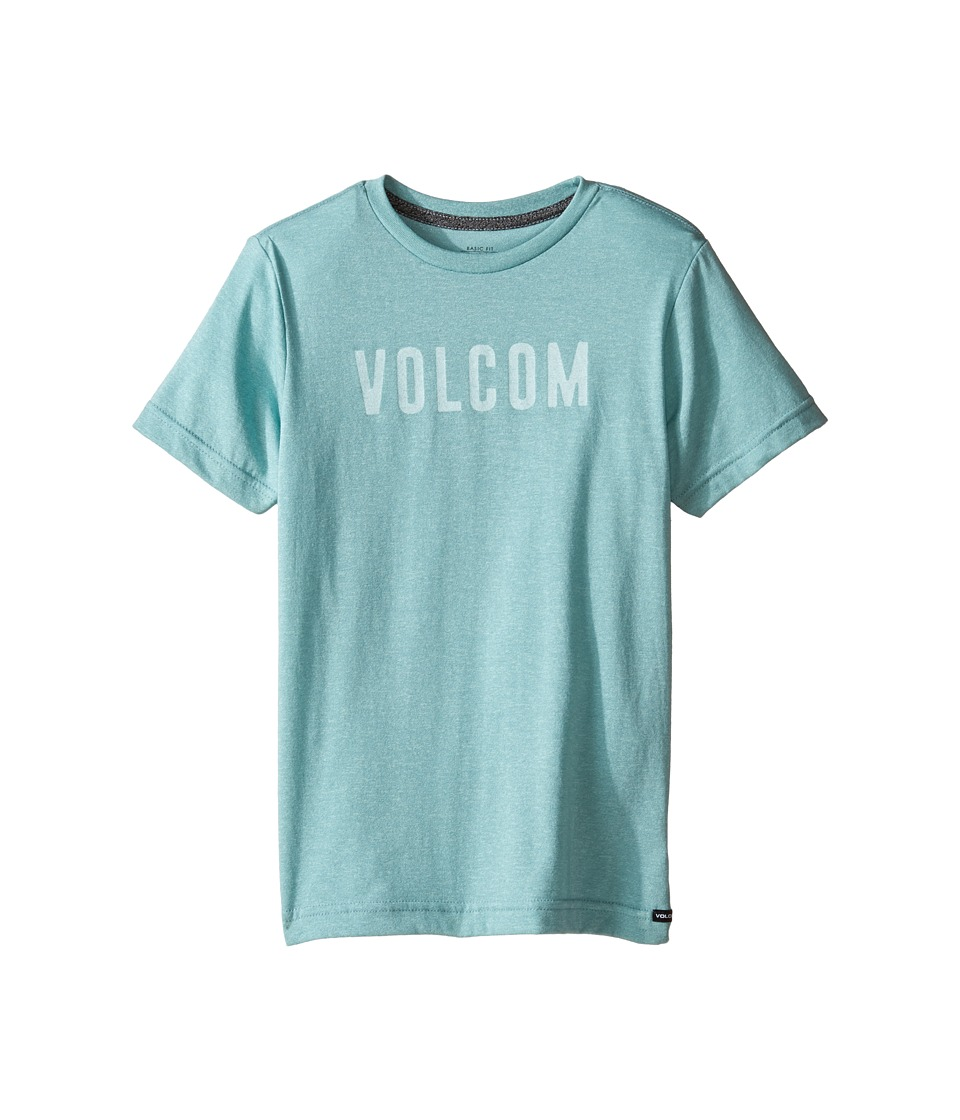 Volcom Kids - Trucky Short Sleeve Tee (Toddler/Little Kids) (Sea Blue Heather) Boy's T Shirt