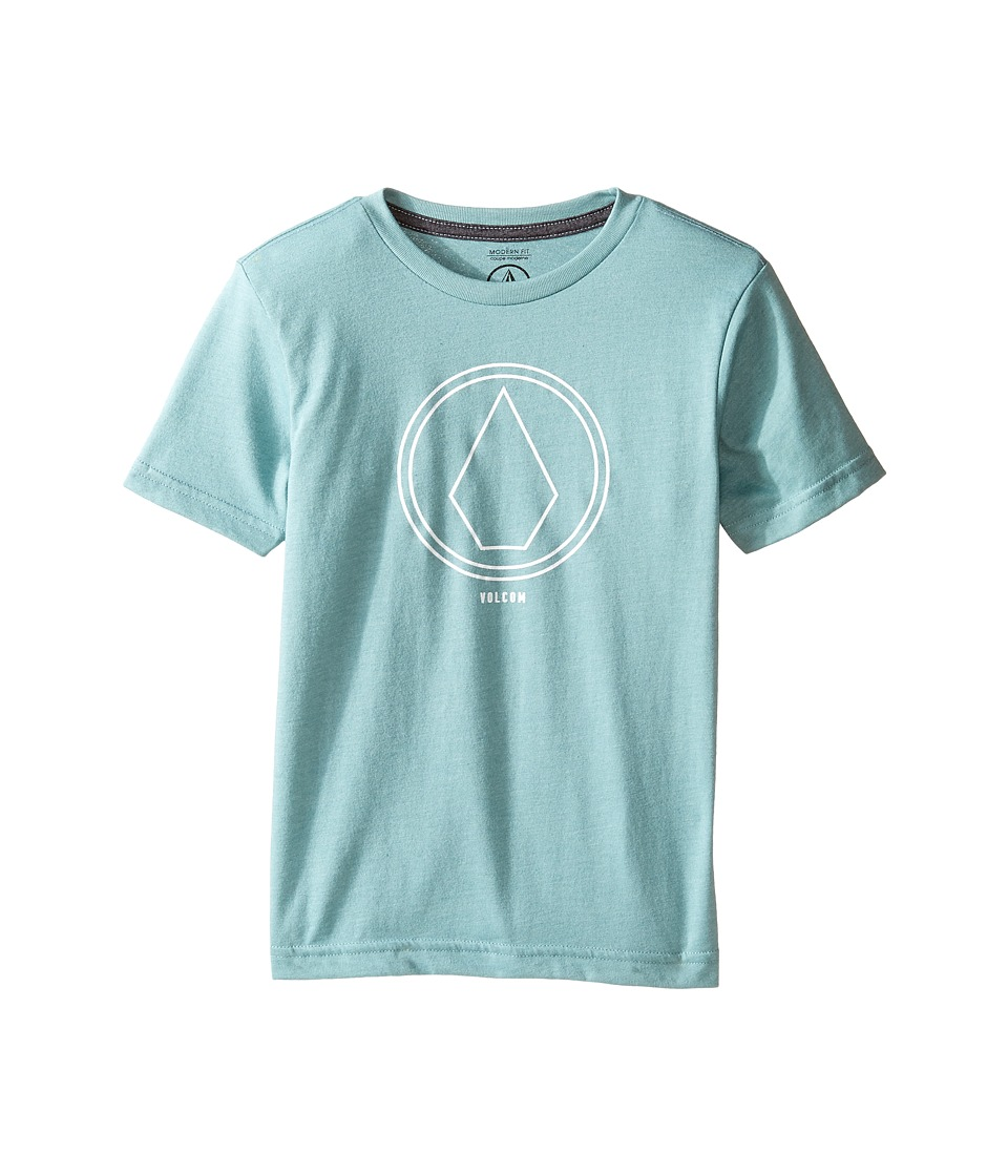 Volcom Kids - Pin Line Stone Short Sleeve Tee (Toddler/Little Kids) (Sea Blue Heather) Boy's T Shirt