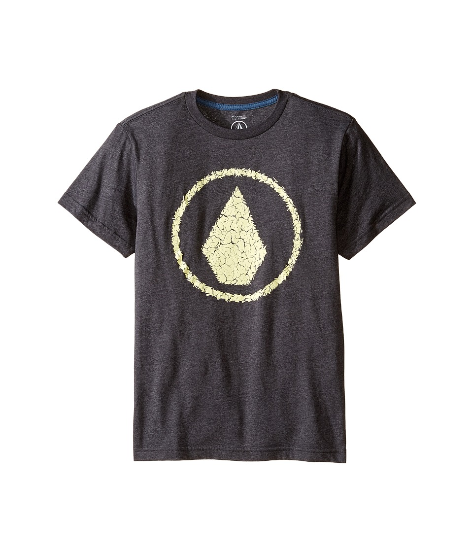 Volcom Kids - Jag Short Sleeve Tee (Big Kids) (Heather Black) Boy's T Shirt